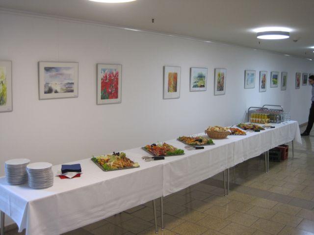 Bilder und Speisen erfreuen das Auge